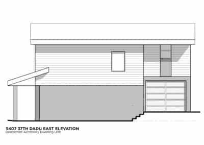 Seattle DADU East Elevation by New Image Construction Management