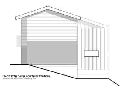 Seattle DADU North Elevation by New Image Construction Management