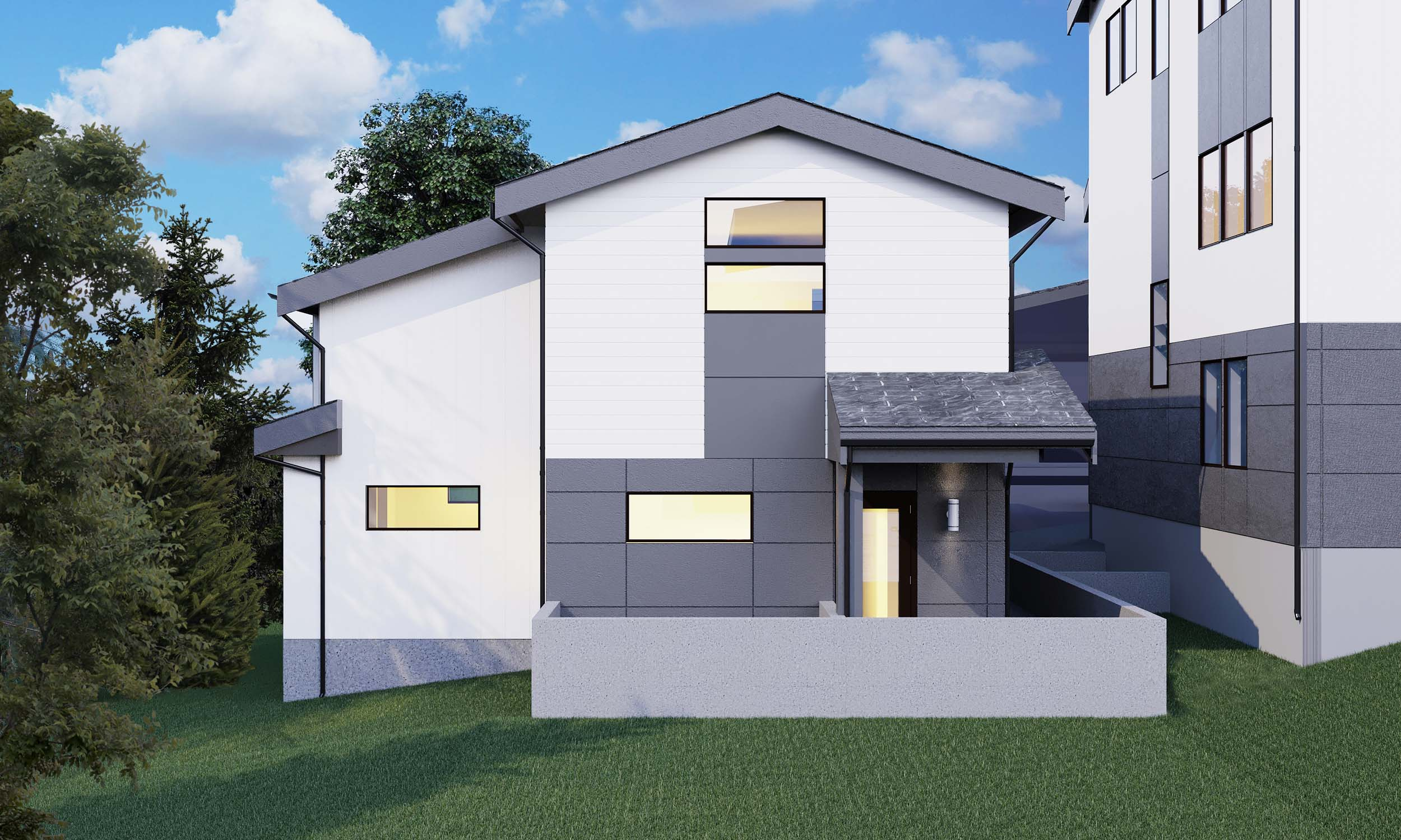 Custom design and construction of a two story DADU (Backyard Cottage) located at 5409 37th Ave SW, Seattle, WA 98126