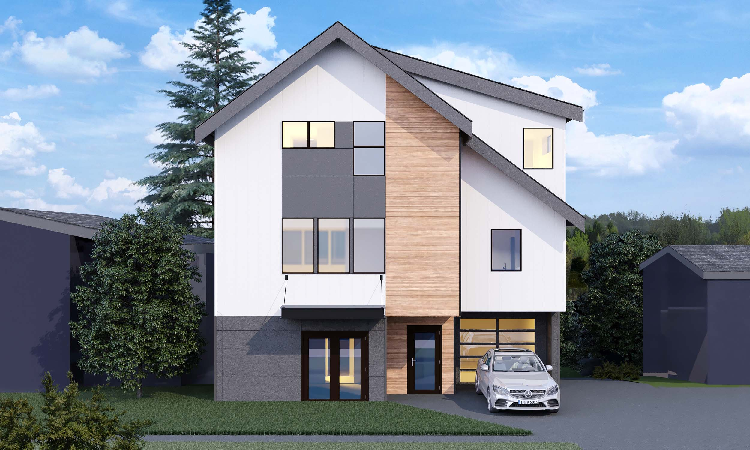 Custom design and construction of a two story single family home located at 5409 37th Ave SW, Seattle, WA 98126