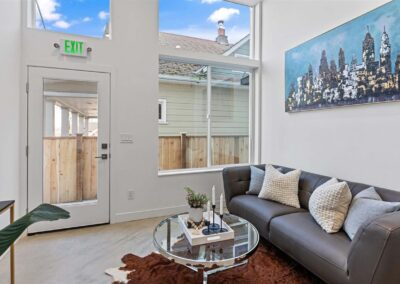 Design and construction of seven townhomes, each 1,300 square feet.