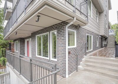 Construction of a ten unit modern apartment by Modern Home Builders Seattle