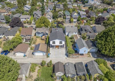 Aerial views of The Cottages at Greenlake